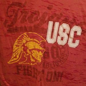 Camp David Tops - CAMP DAVID SHEER USC T SHIRT DISTRESSED SIZE LARGE